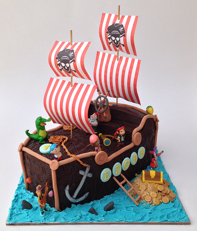 Pirate Ship Cake Cocorella